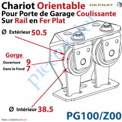 Chariot Orientable pour Porte de Garage Coulissante sur...