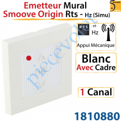 Emetteur Mural Smoove Origin Rts Blanc Avec Cadre