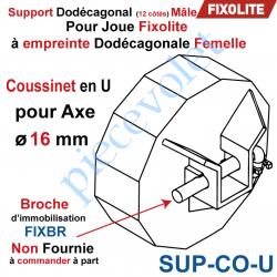 Support Dodécagonal en U passage intérieur 16 mm pour...