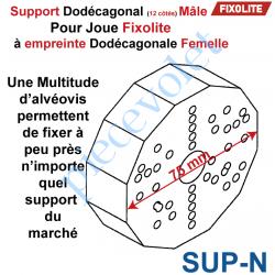Support de Manoeuvre Dodécagone Normal Prépercé pour...