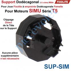 Support Dodécagonal pour Moteur Simu T5 dans Coffre Fixolite