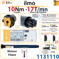 Moteur Filaire Electronique ilmo 50 WT 10/17 Réglage...