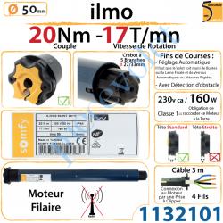 Moteur Filaire Electronique ilmo 50 WT 20/17 Réglage...