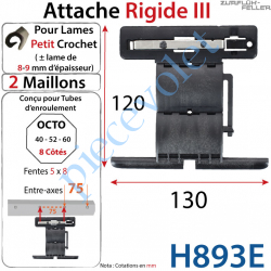 Attache Rigide III de 2 Maillons pour Tube Octo 52-60...