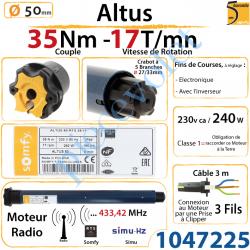 Moteur Somfy Altus Rts 35/17 LT 50