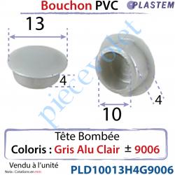 Bouchon Pvc Tête Bombée Percement Diamètre 10mm...