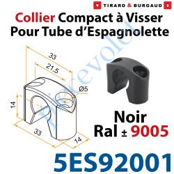 Collier Compact à Visser en Matériau Composite Noir ±Ral...
