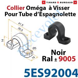 Collier Oméga à Visser en Matériau Composite Noir ±Ral...