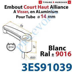 Embout Court Haut modèle Alliance à Visser pour Tube...