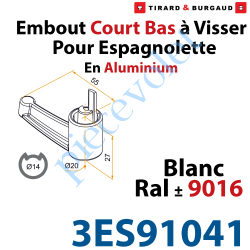 Embout Court Bas modèle Alliance à Visser pour Tube...