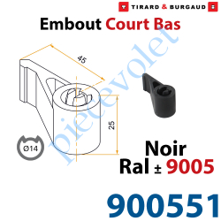Embout Court Bas modèle Standard en Matériau Composite...