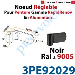 Nœud Réglable pour Penture Gamme RapidRénov Diamètre:14...