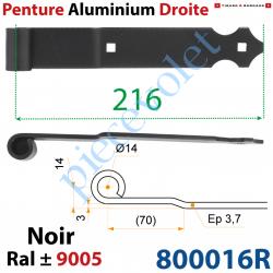 Penture Aluminium Droite Festonée Longueur: 216mm Noeud...