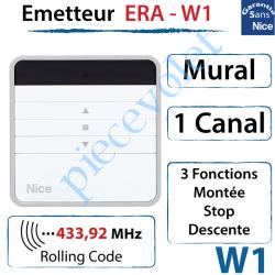 Emetteur Era-W1 Mural 3 Fonctions 1 Canal 433,92MHz...
