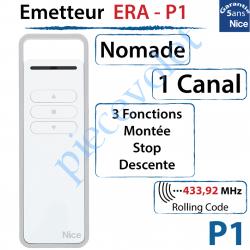 Emetteur Era-P1 Nomade 3 Fonctions 1 Canal 433,92MHz...