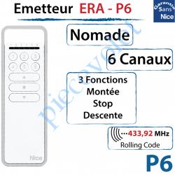 Emetteur Era-P6 Nomade 3 Fonctions 6 Canaux 433,92MHz...