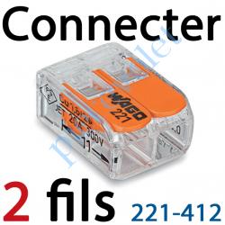 Borne Mini Connexion à Leviers 2 Fils Souples ou Rigides...