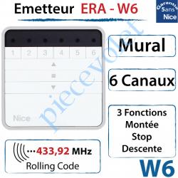 Emetteur Era-W6 Mural 3 Fonctions 6 Canaux 433,92MHz...