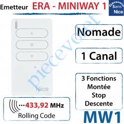 Emetteur Era-MiniWay MW1 Nomade 3 Fonctions 1 Canal...