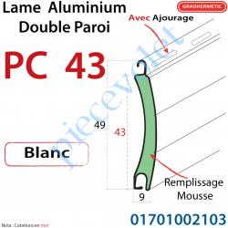 Lame Alu Double Paroi Inj de Mous Polyu Pc43 de 43x9...